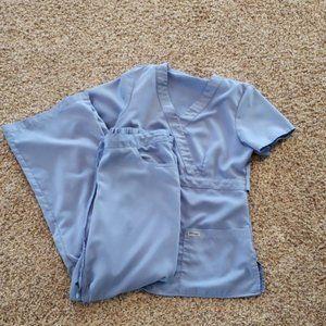 Small ceil blue Grey's Anatomy scrub set